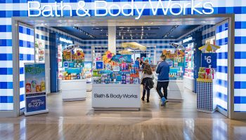Bath & Body Works store entrance in mall: Store known for...