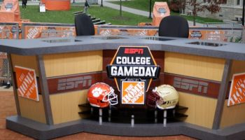 "ESPN's ""College GameDay"" Films At Boston College"