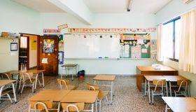 Empty Primary School Classroom