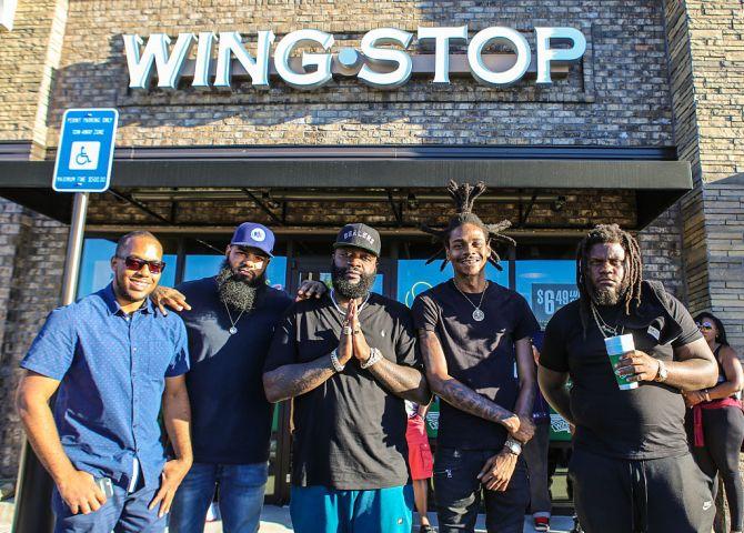 Rick Ross Visits Wingstop