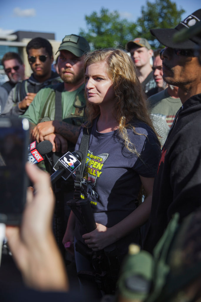 Protests At Open Carry Rally At Kent State University