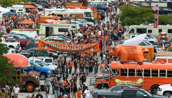 Cleveland Browns Fans Tailgating