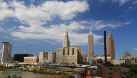 Cleveland along the famous Cuyahoga River