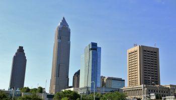 Big city skyline, Cleveland, Ohio, USA