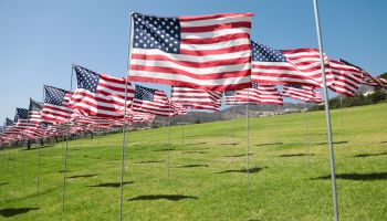 9/11 Memorial and 'Wave of Flags' at Pepperdine University