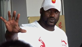 NBA star Shaquille O'Neal arrives at the