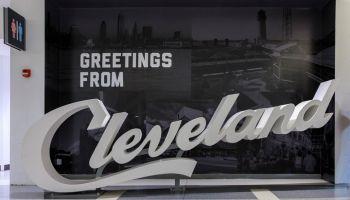 Cleveland script sign - CLE