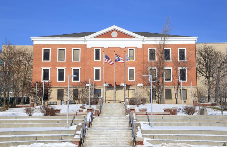 University of Akron Campus, Buchtel Hall Building, Akron, Ohio, USA