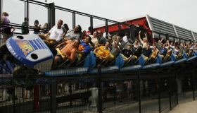 Millennium Force, a ride at Cedar Point in Sandusky, Ohio, k