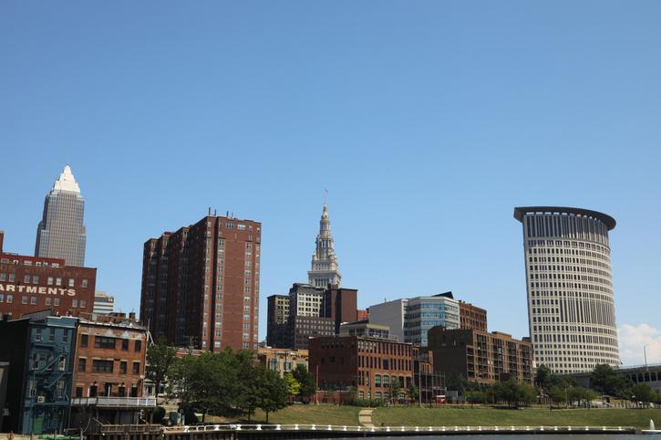 Cleveland City Skyline