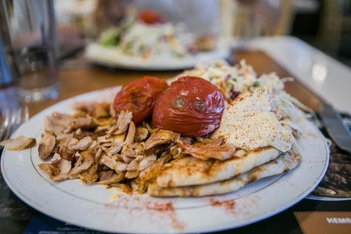 gyros chicken pita.Greek food