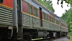 Scenic Passenger Train running along the Cuyahoga Valley National Park, Valley View, Ohio, USA