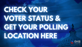Check voter registration status and polling location