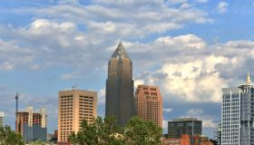 Dowtown Cleveland City Skyline